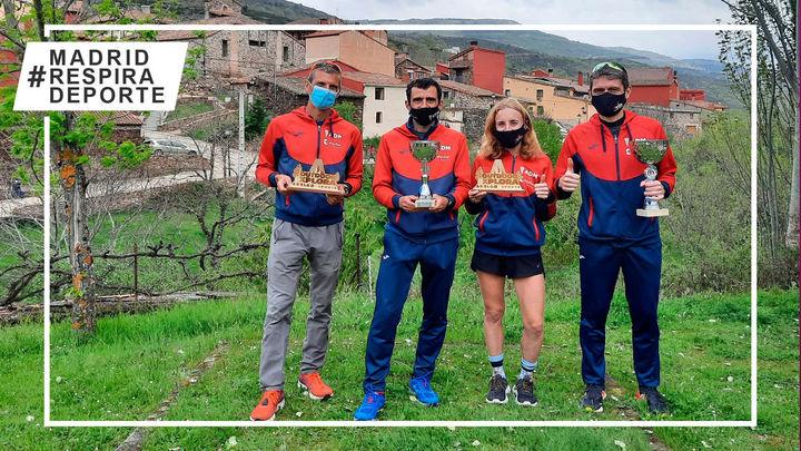 Pablo Villalobos y Charlotte Cotton, campeones de Madrid de Trail