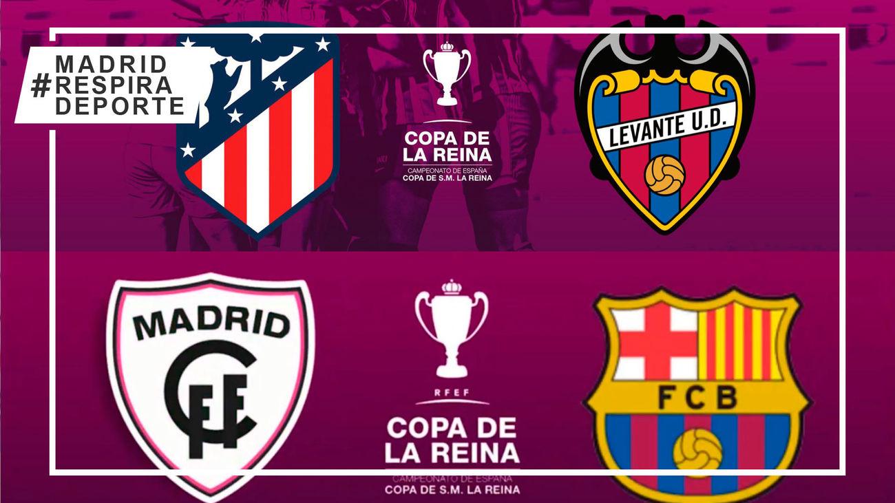 Atlético-Levante y Madrid CFF-Barça, cruces de semifinales de la Copa de la Reina