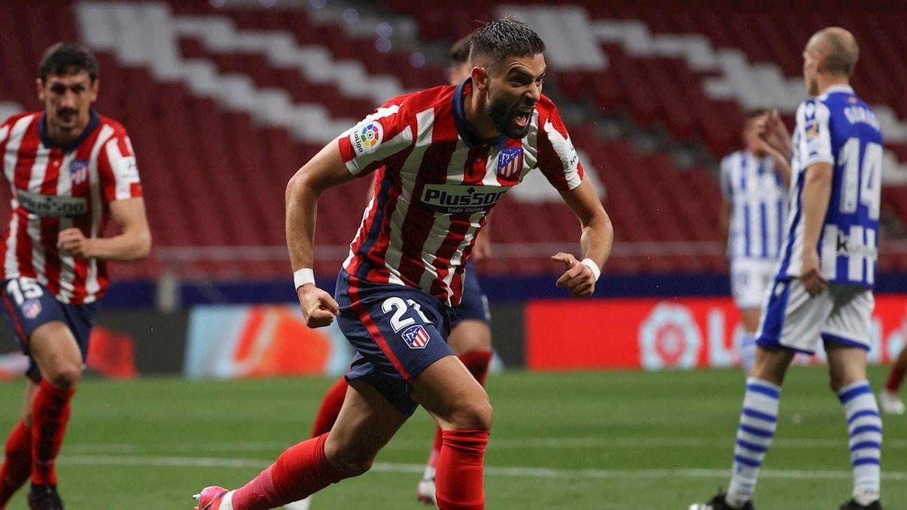 Carrasco marca ante la Real Sociedad