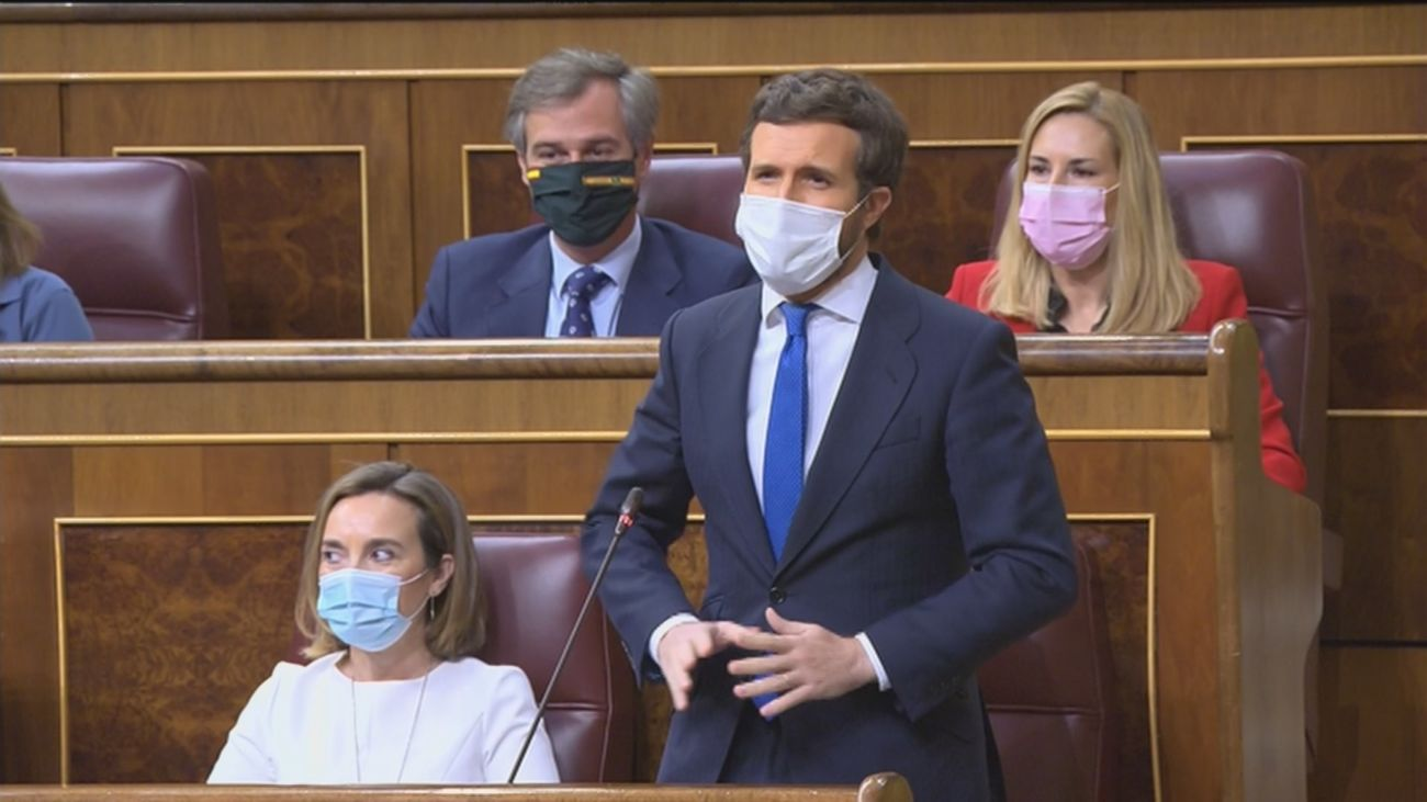 Nuevo cara a cara entre Sánchez y Casado con el 4M y la pandemia como ejes de la discusión en el Congreso