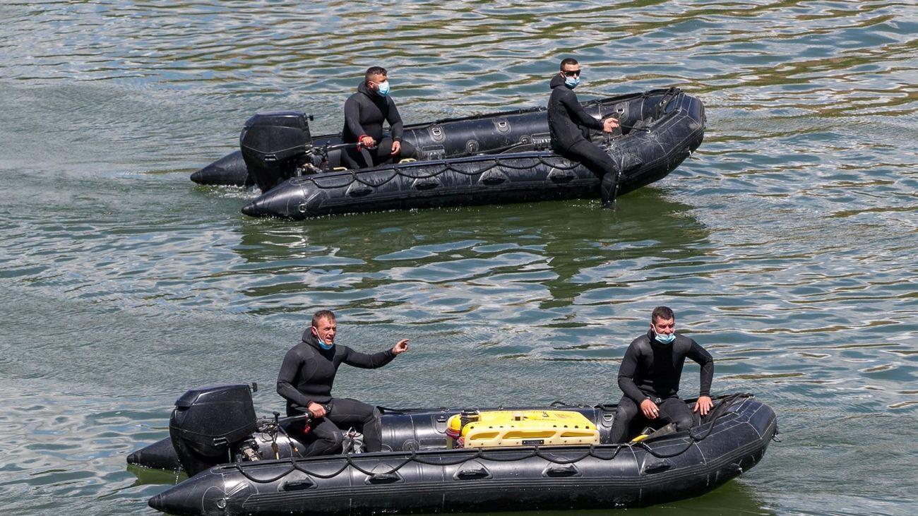 Dispositivo de búsqueda del menor desaparecido en el río Ebro