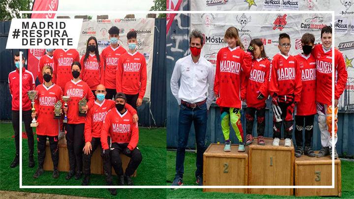 Móstoles proclama a los nuevos campeones de Madrid de BMX