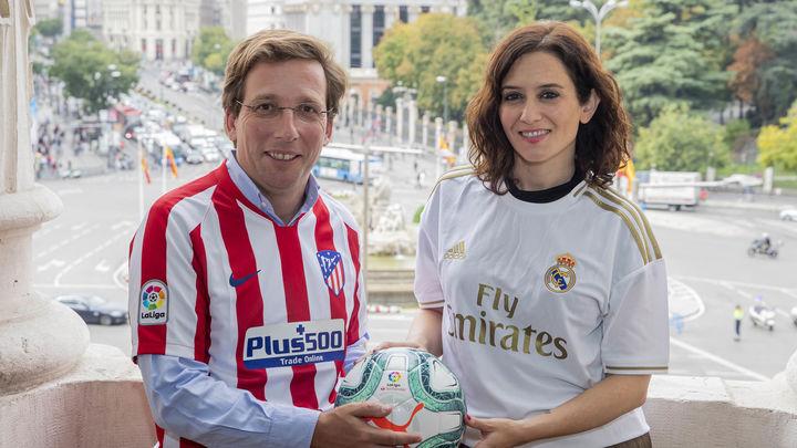 Ayuso y Almeida felicitan al Atleti por el título de Liga