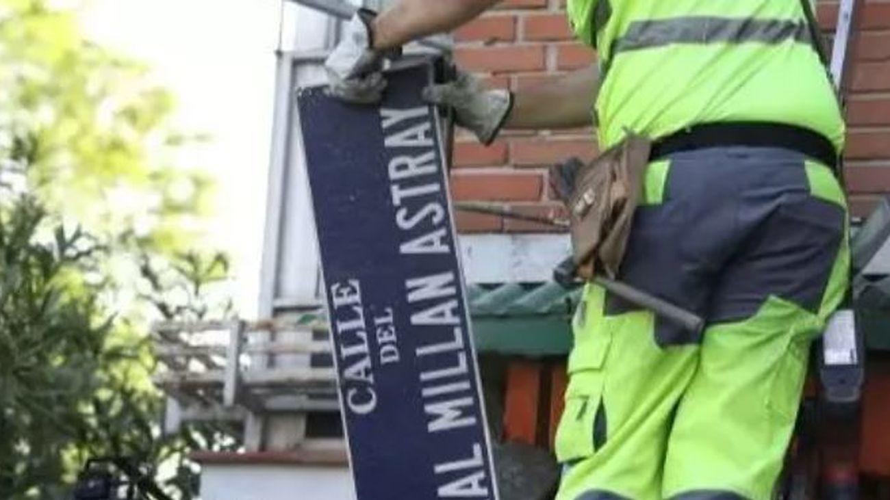 La justicia madrileña obliga al Ayuntamiento de Madrid a mantener  la calle General Millán Astray en el callejero de la capital