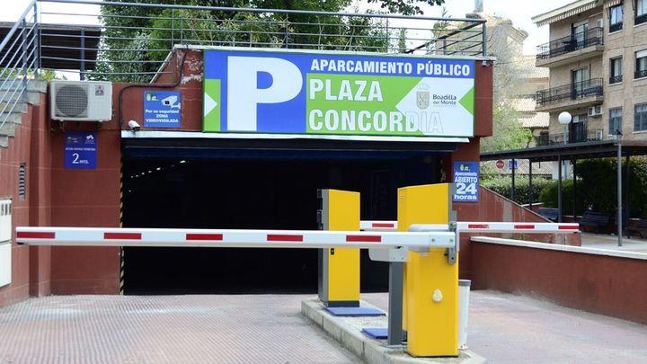 El parking de la Concordia de Boadilla será gratuito, en horario comercial, hasta final de año