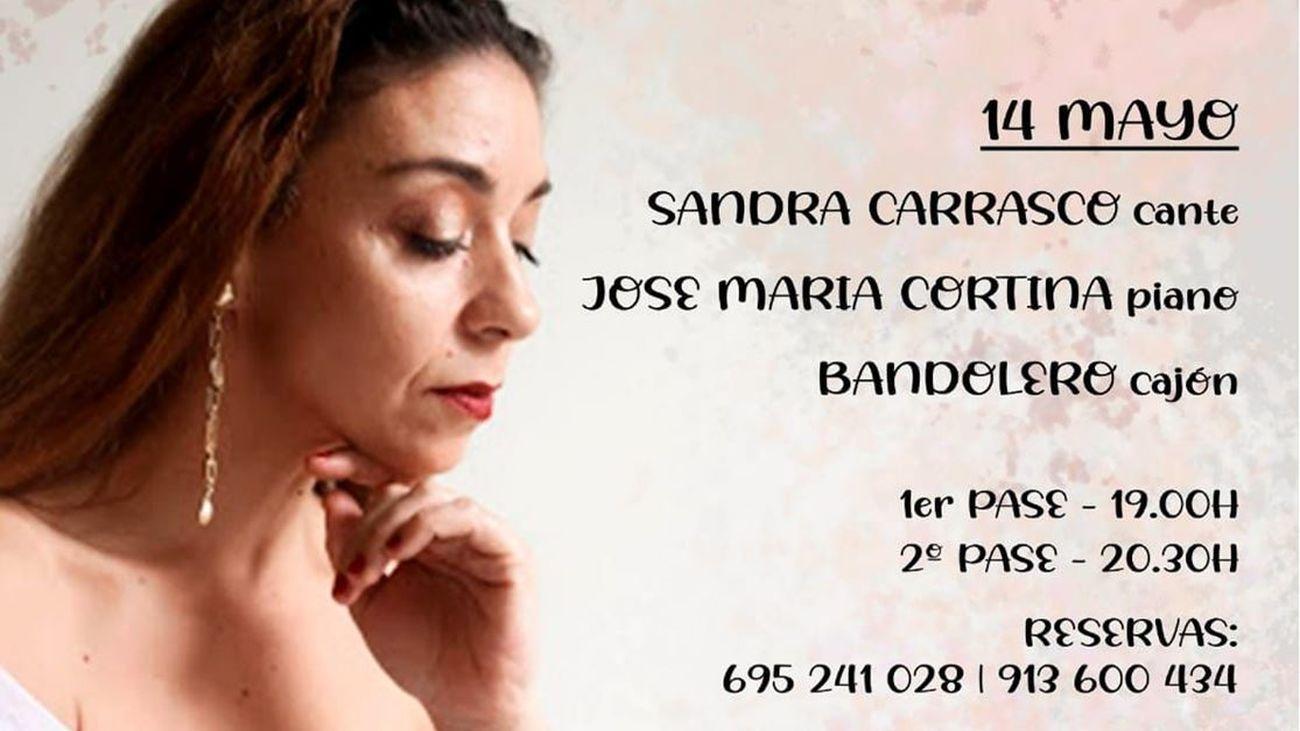 Sandra Carrasco este viernes en las jornadas flamencas de Amor de Dios