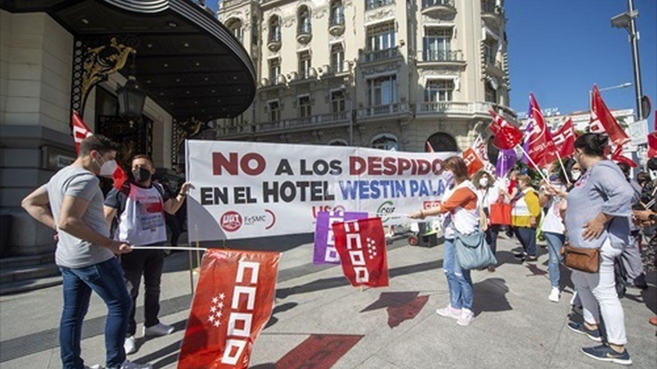 Protesta de trabajadores del Hotel Palace