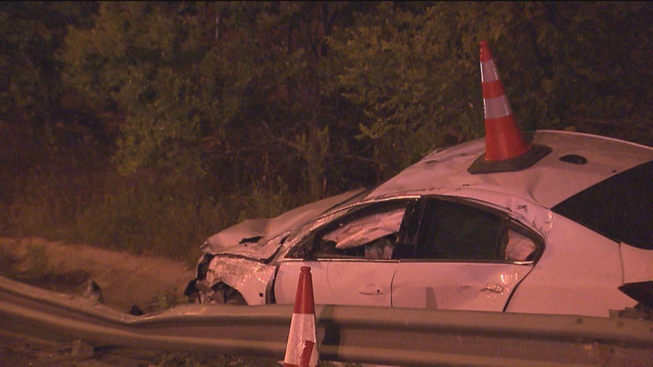 Un herido de gravedad, en un accidente en una rotonda de acceso de Alcorcón de la M-50