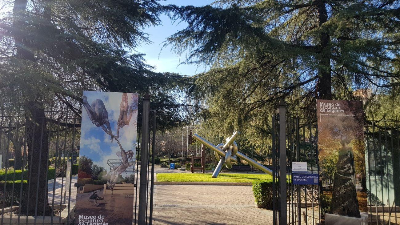 Entrada al Museo de Escultura al aire libre de Leganés