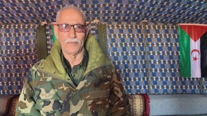 El líder del Frente Polisario, Brahim Ghali, abandona España