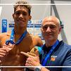 Hugo González, del Canoe, se cuelga el bronce en los Europeos en 50 espalda