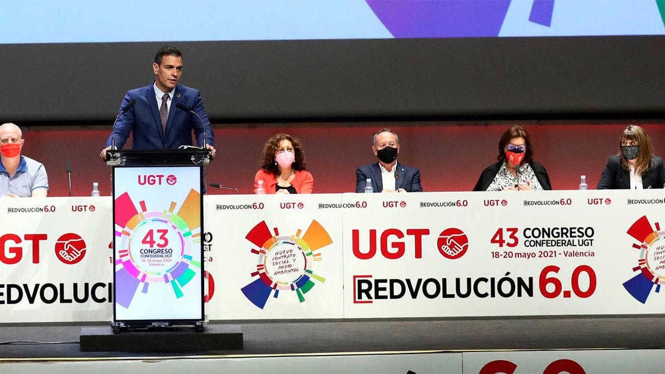 Sánchez interviene en el 43 Congreso de UGT