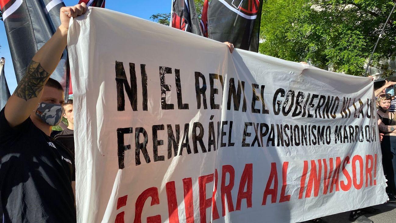Concentración no autorizada frente a la Embajada de Marruecos
