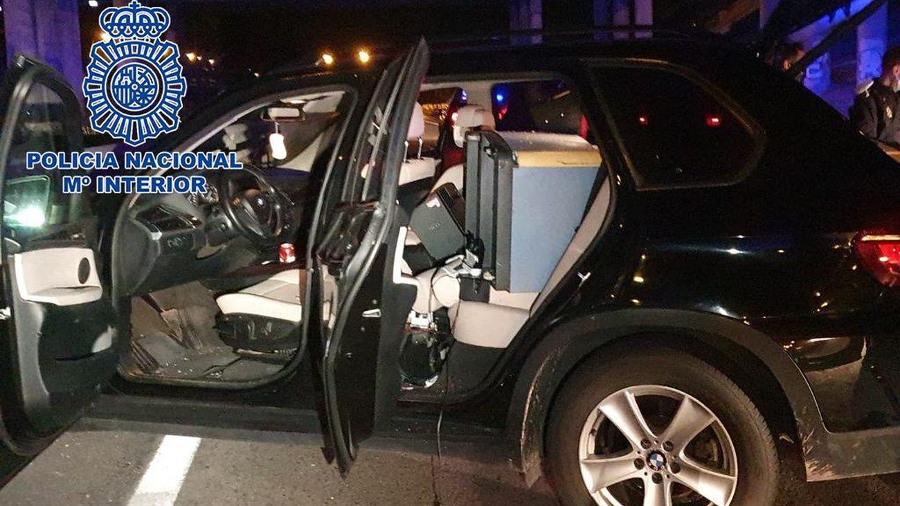Uno de los coches implicados en la persecución