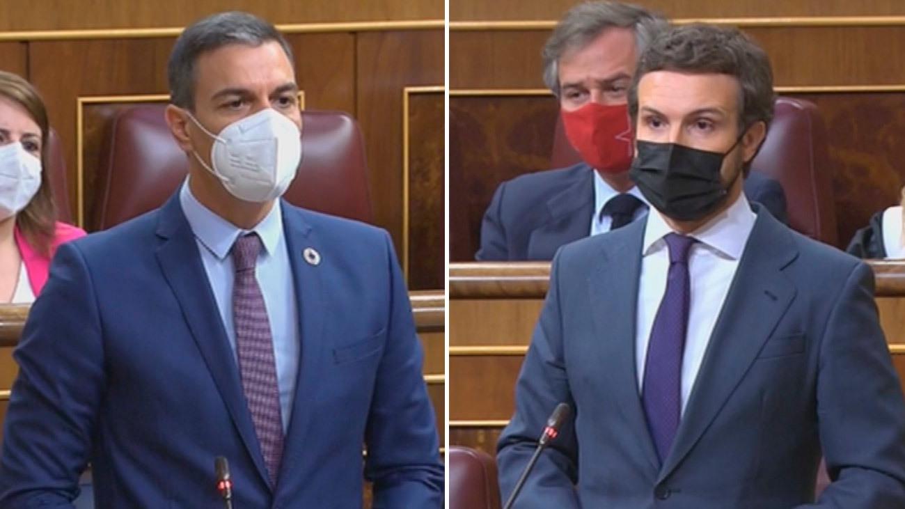 Sánchez acusa de deslealtad a Casado que le recuerda su apoyo y le pide que se deje ayudar en la crisis con Marruecos