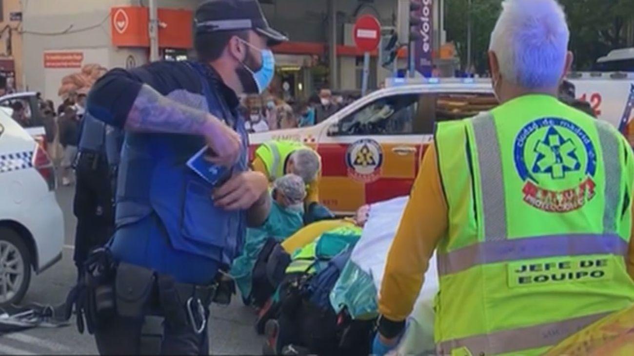 Una ciclista grave tras chocar con una motocicleta en la calle Bravo Murillo