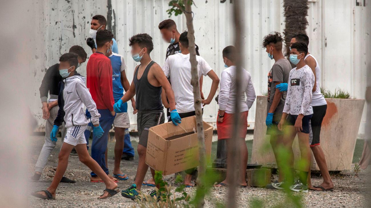 Localizan entre los menores que entraron en Ceuta a las hijas de una española residente en Cataluña
