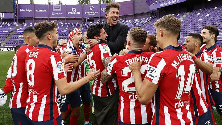 """Simeone: """"Es el mejor año para que el Atlético saliera campeón"""""""
