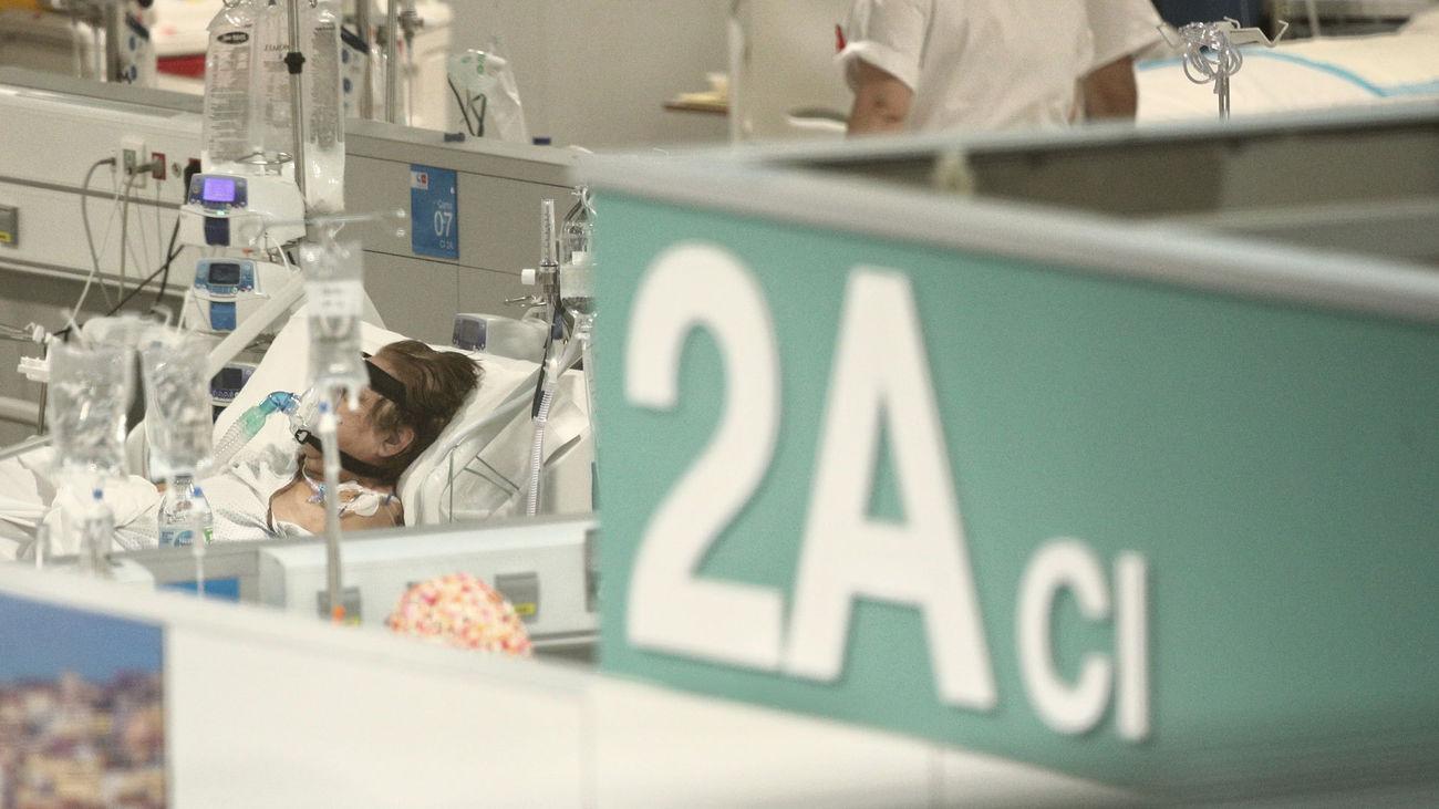 Enfermos en la Unidad 2A del Hospital de Emergencias Isabel Zendal