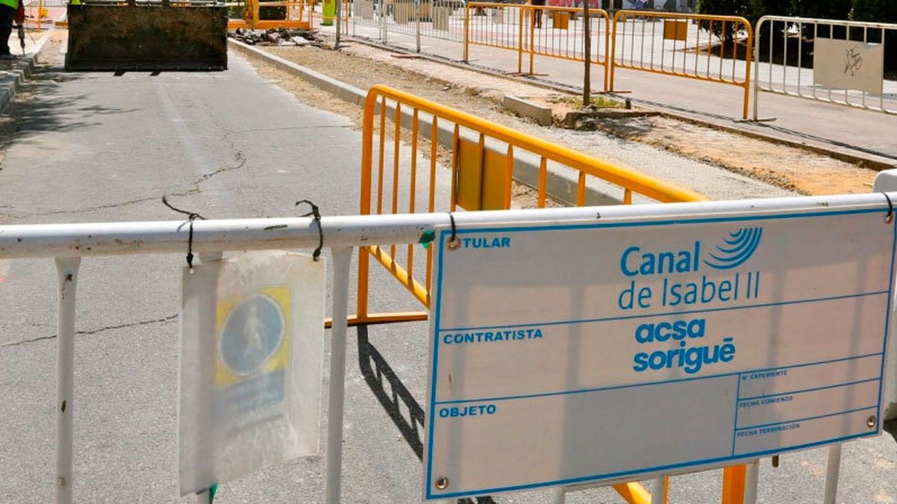 Cortada la calle Venezuela de Coslada