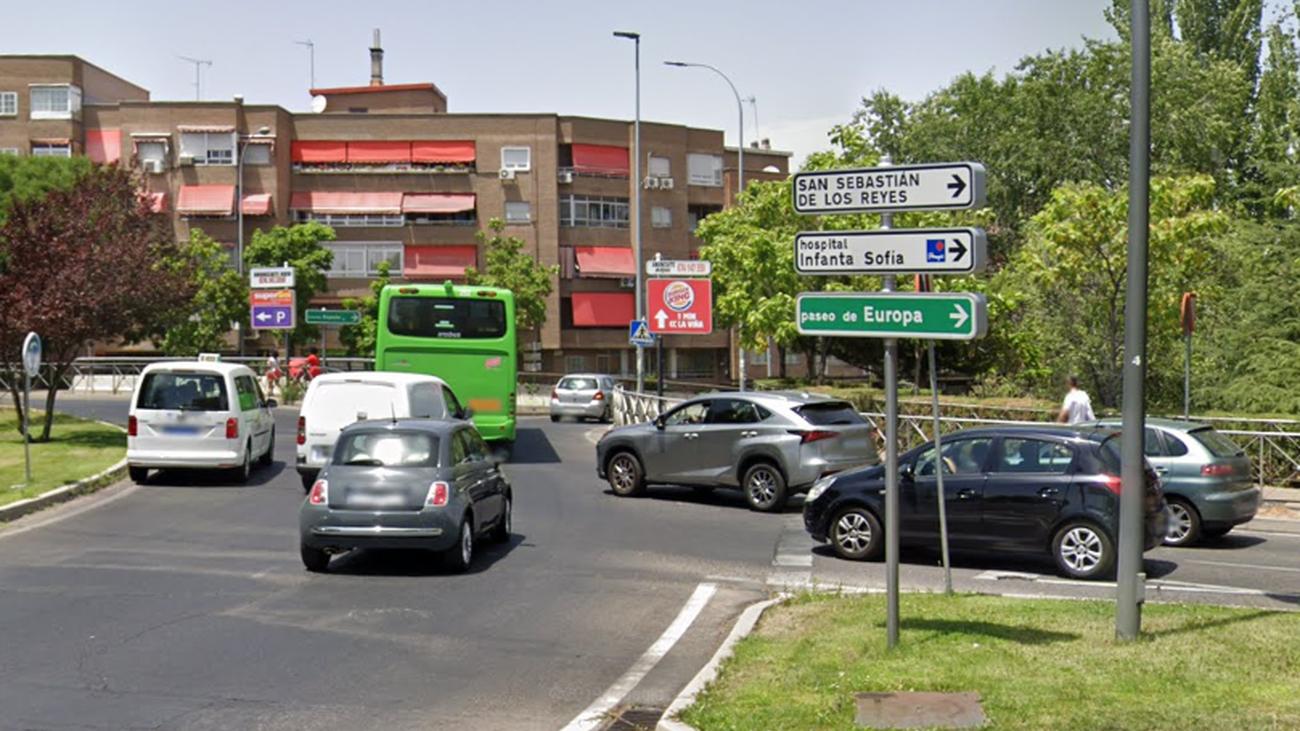 Una calle en el barrio de Tejas Verdes, en San Sebastián de los Reyes