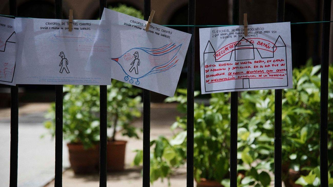 Los vecinos de San Lorenzo de El Escoral dibujan las soluciones a los problemas del municipio