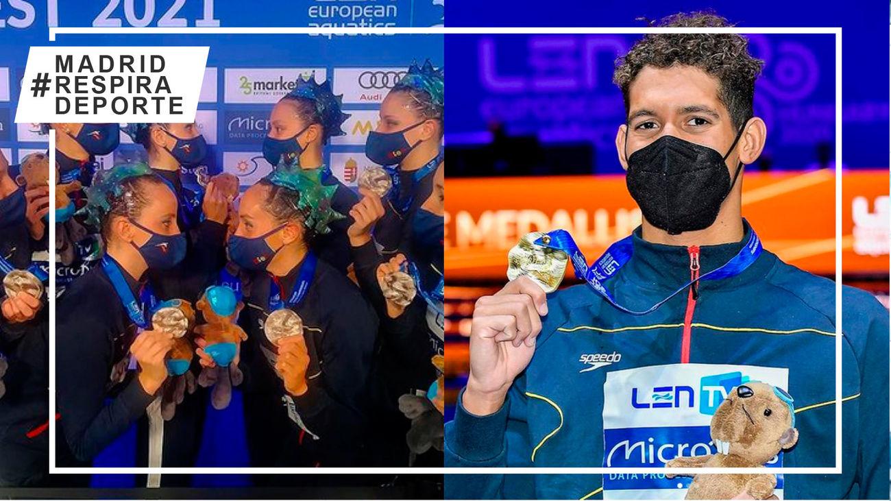 La natación madrileña suma cinco medallas y diez finales en los Europeos de Budapest