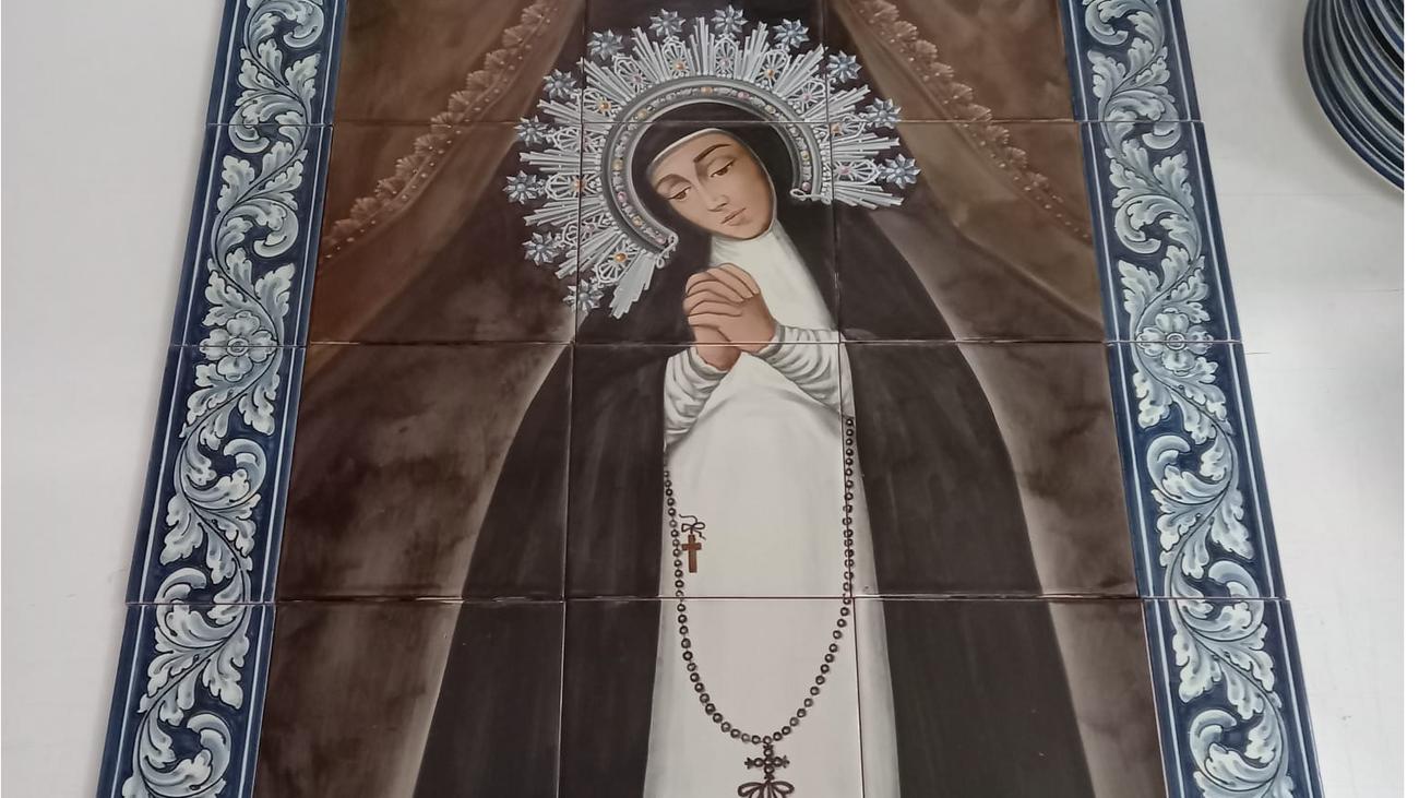 Mosaico de la Virgen de La Paloma