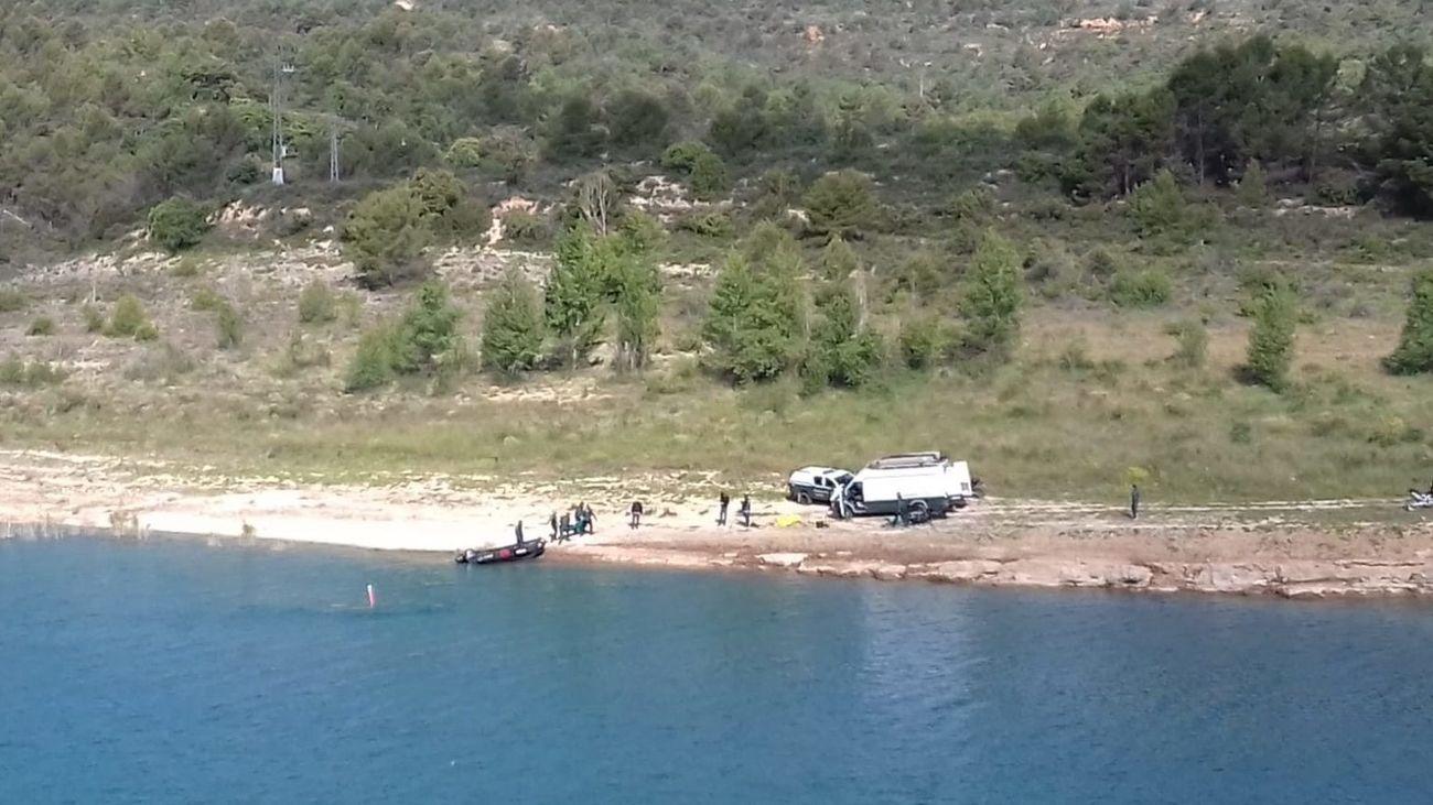 Pantano de Entrepeñas donde se ha encontrado el vehiculo