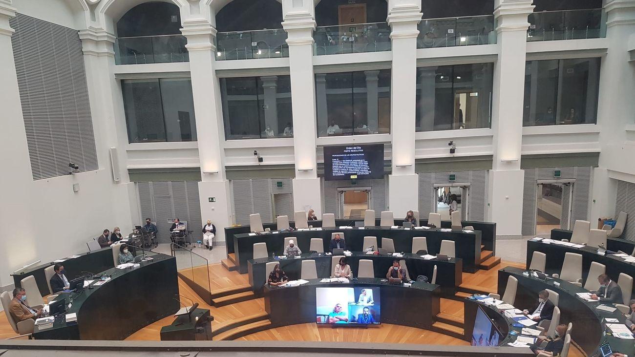 Pleno del Ayuntamiento de Madrid, celebrado este martes.
