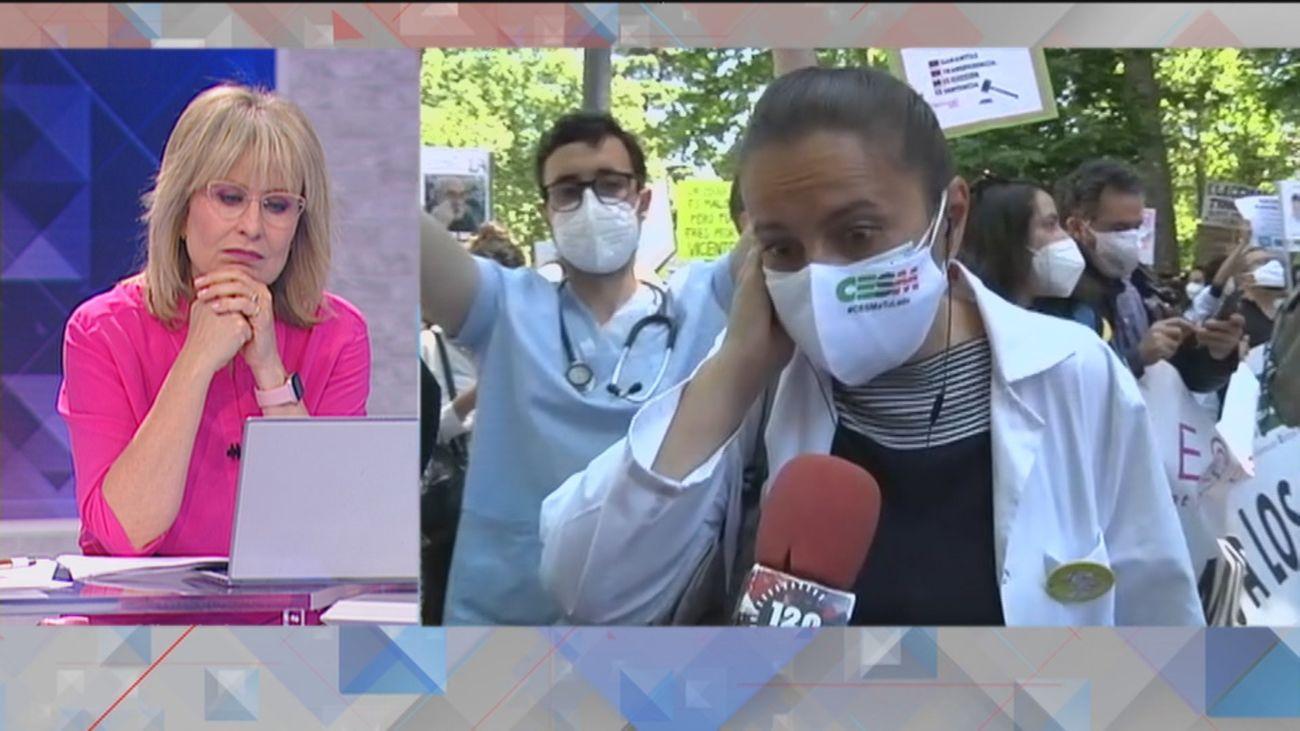 Los MIR protestan ante el Ministerio de Sanidad contra el modelo telemático de adjudicación de plazas