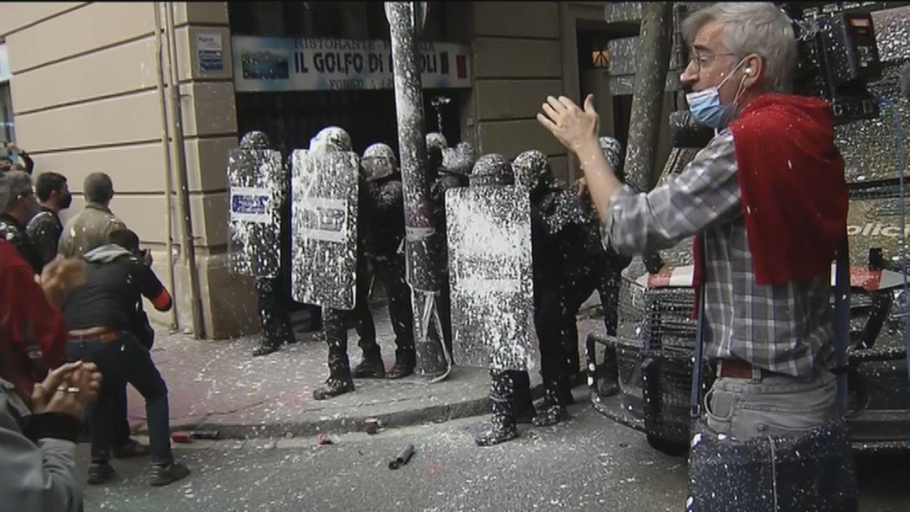 Ocupan la sede de ERC en Barcelona en protesta por un desahucio