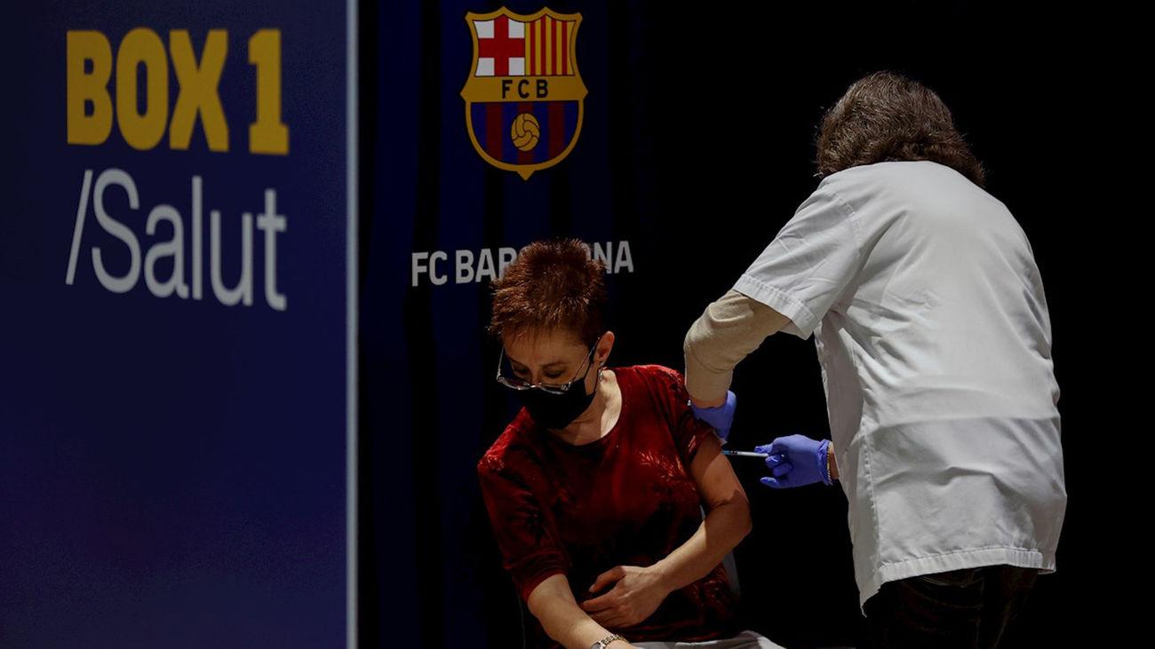 El Camp Nou reabre sus puertas al público como nuevo punto de vacunación