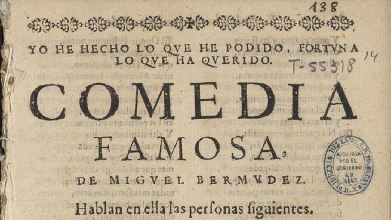 'Comedia famosa' de Lope de Vega