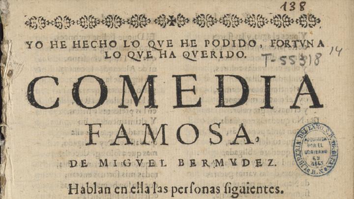 Descubren una comedia desconocida de Lope de Vega en la Biblioteca Nacional
