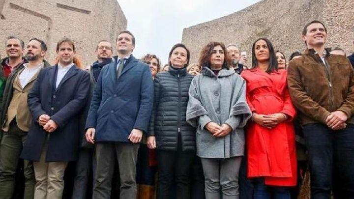 PP, Vox y Ciudadanos, unidos contra los indultos del 'procés': ¿habrá nueva 'foto en Colón'?
