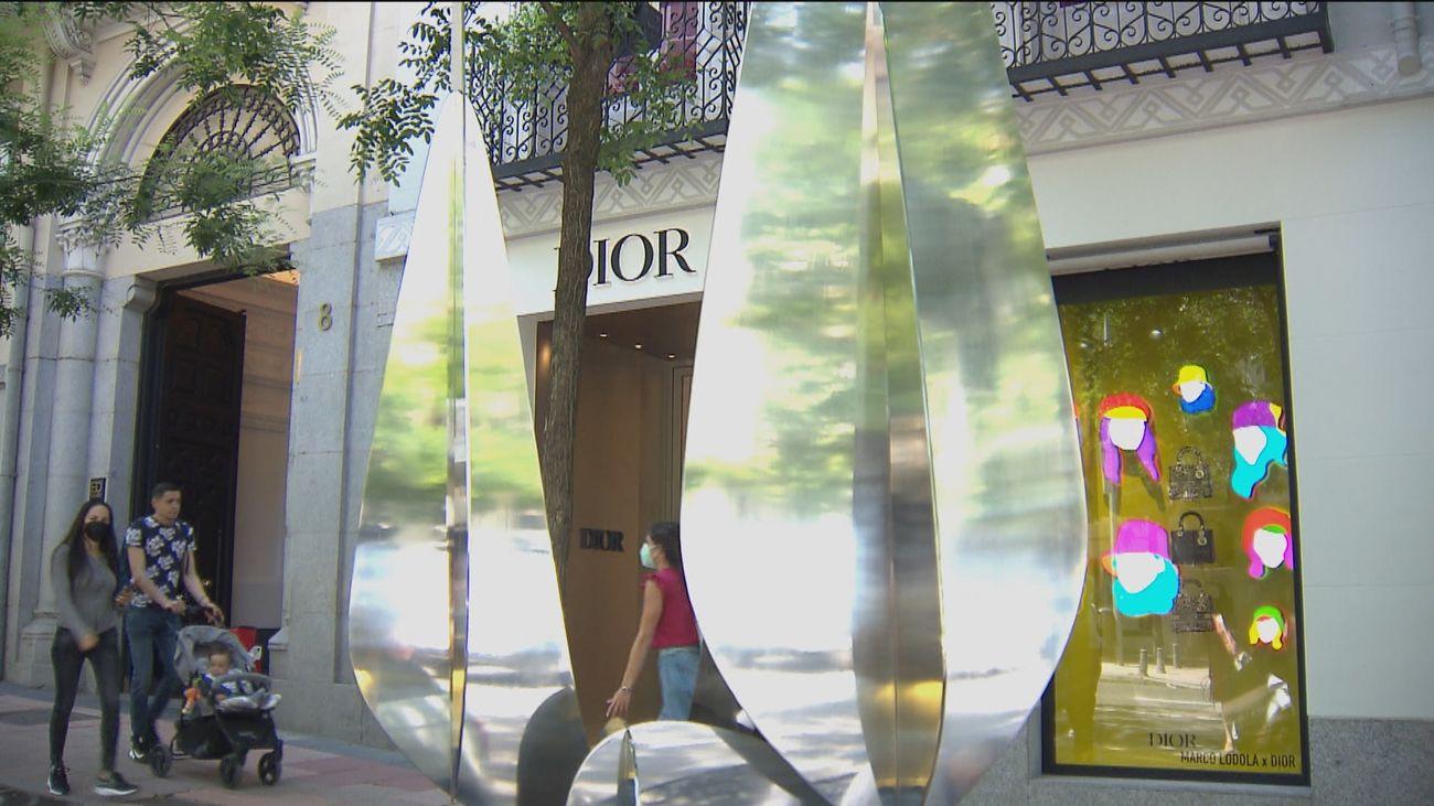 Esculturas de Alejandro Vega en la Milla de Oro madrileña