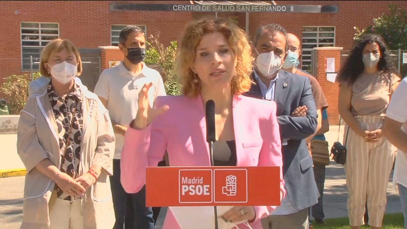 """El PSOE acusa a Ayuso de provocar el """"éxodo sanitario""""por el cierre de centros que la Comunidad de Madrid niega"""