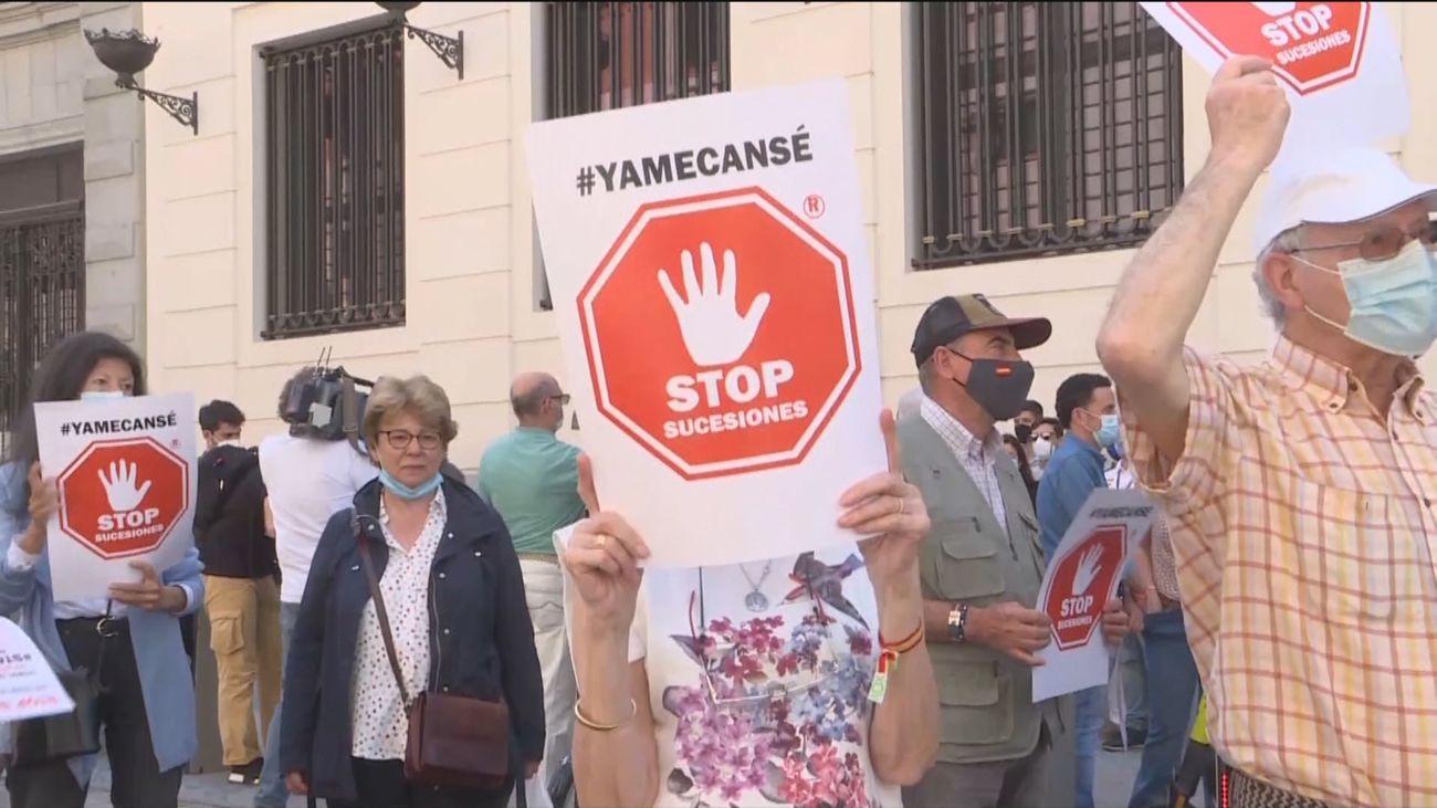'Stop Sucesiones' reclama en las calles de Madrid acabar con el impuesto de Sucesiones