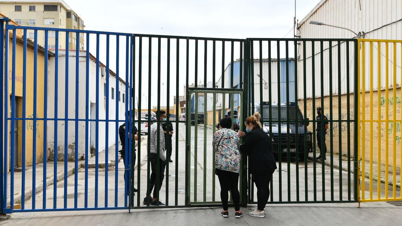 Frontera de Ceuta con Marruecos