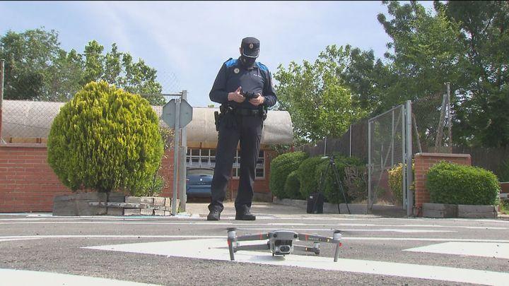 Drones de la Policía Local de Getafe para luchar contra el botellón
