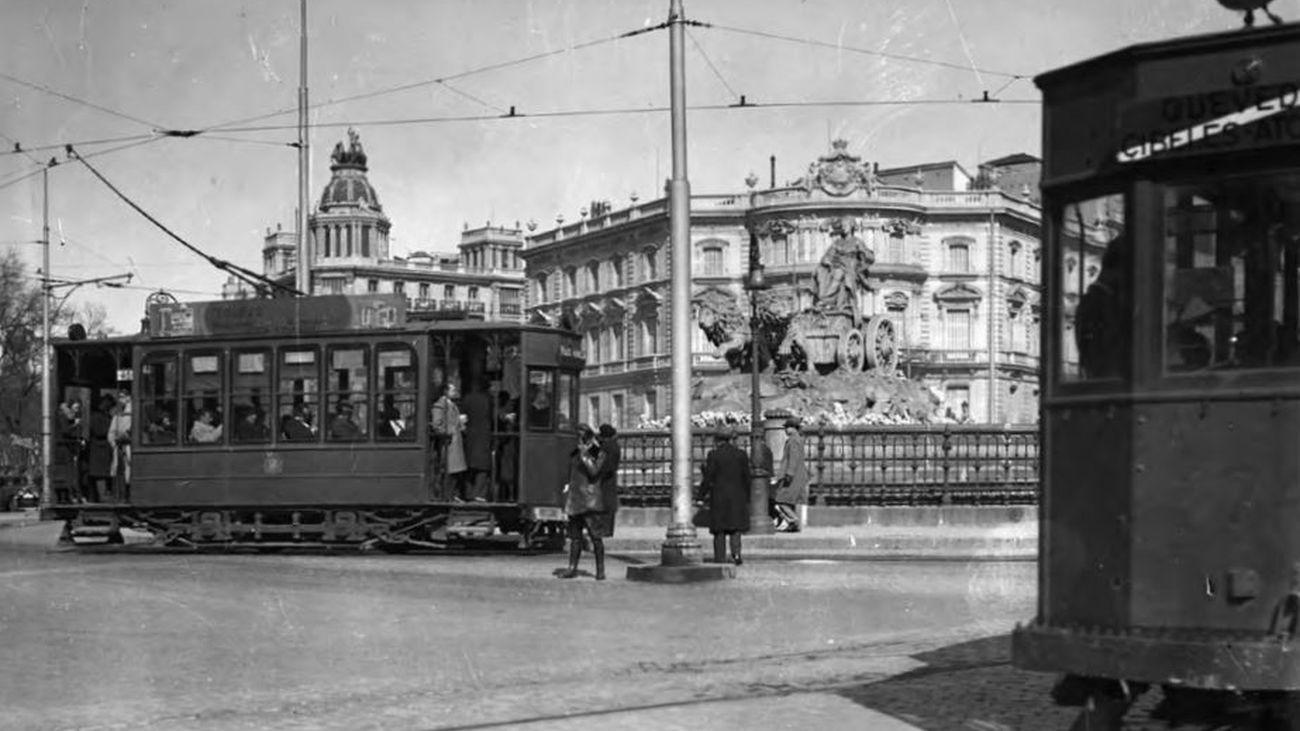 Una exposición virtual conmemora los 150 años del primer tranvía de Madrid