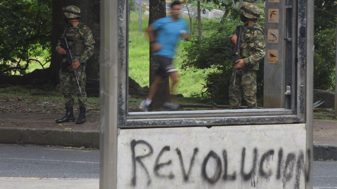 La ciudad colombiana de Cali, militarizada después de 13 muertes en las protestas