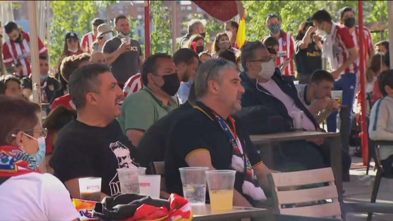 Los bares del Wanda se preparan para el primer partido con público