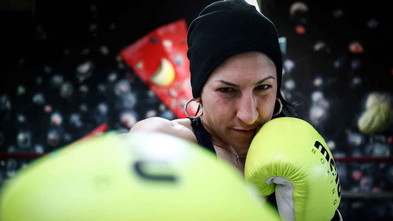 La campeona de Europa de boxeo, Miriam González