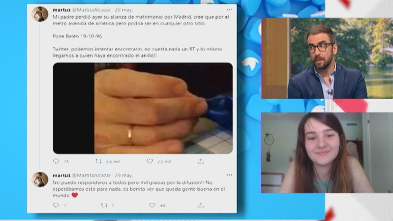 Marta pide ayuda para localizar la alianza perdida de su padre en el metro de Madrid