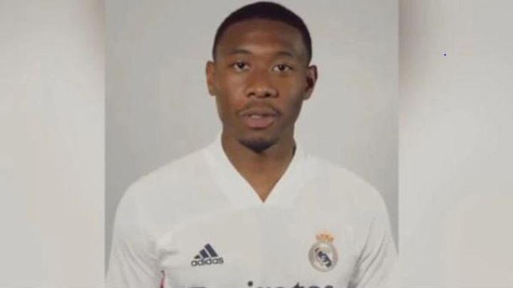 """Alaba ya posa con la camiseta del Real Madrid: """"Se cumple un sueño"""""""