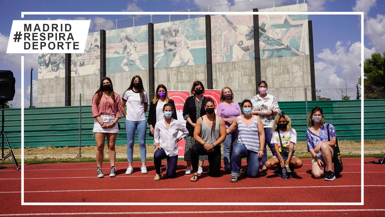 Mural 'Mujeres deportistas'