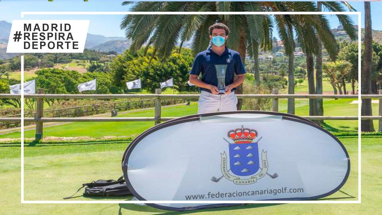 Victoria del madrileño Pablo Ereño en el Campeonato de Canarias de golf