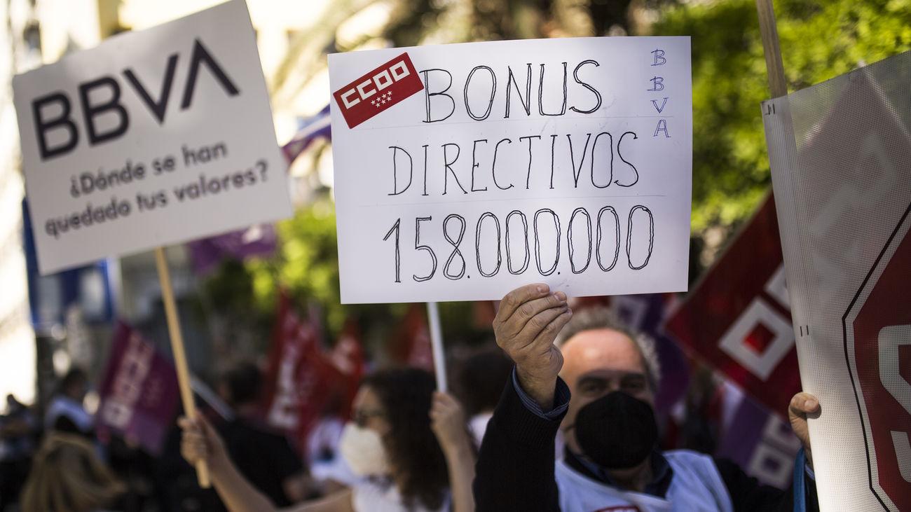 Convocada huelga en BBVA en protesta por los más de 3.300 despidos